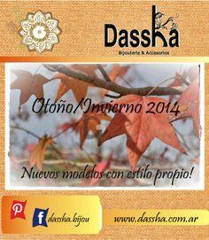 Tendencias y sueños que renacen en otoño! www.dassha.com