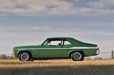 1969 Chevrolet Nova Yenko SYC 427 cid / 425 horsepower big block Rallye Green with white stripes