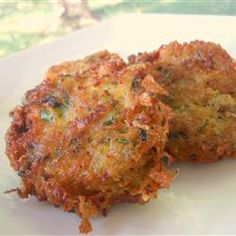 Zucchini patties -- Add some banana peppers!