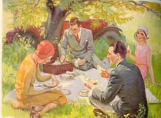 vintage 1950s Summer Beach Picnic - - Yahoo Image Search Results