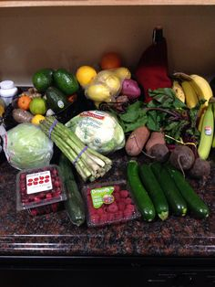 Assorted produce