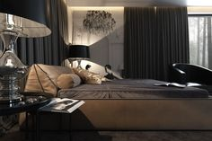 Roohome.com - The amazing Bedroom interior design comes from any styles, shapes, and sizes, depends on how do you design your own. Choosing the bedroom themes with the concept that you love would be more comfortable for you. You can apply the dark interior style to create the cozy and silent feel in your ...