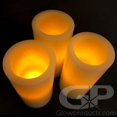 The Glow Products LED Flameless Candles have deep set LED lights so the flickering glow effect illuminates more of the true wax LED Pillar Candle! Flameless Candles, Pillar Candles, Glow Products, Church Events, Glow Effect, Wax, Deep, Lights, Lighting