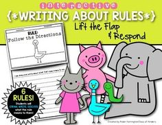 Writing about Rules for First Grade and Kindergarten. Back to School.$