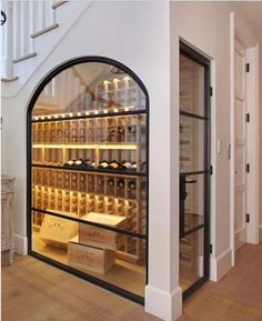 Amazing cellar and use of space under stairs