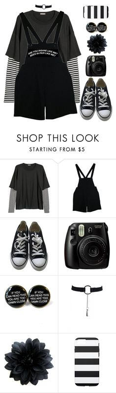 """""""low on self esteem"""" by sconesareawesome-iggybrows ❤ liked on Polyvore featuring American Apparel, Converse and Fujifilm"""