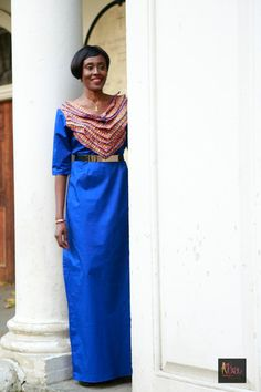 Royal blue stretched gown, size 14 by BoutiqueDeLAfrique on Etsy High End Fashion, Boutique, Stretch Fabric, Printed Cotton, Fashion Brand, Catwalk, Royal Blue, Size 14, Sari