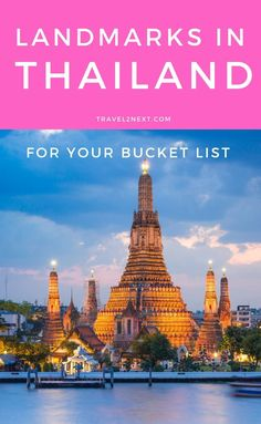 20 Thailand landmarks for your bucket list. Also known as the Temple of Dawn Wat Arun is a Buddhist temple built by King Narai in the century. Thailand Resorts, Thailand Travel, Asia Travel, Travel Usa, Travel Tips, Laos Travel, Travel Packing, Budget Travel, Travel Guides