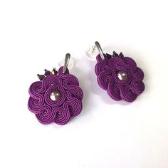 Deep Violet Statement Jewelery Fashionable Small by Lolissa