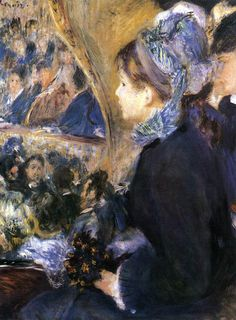 At The Theater ~ Pierre-Auguste Renoir (1841-1919)