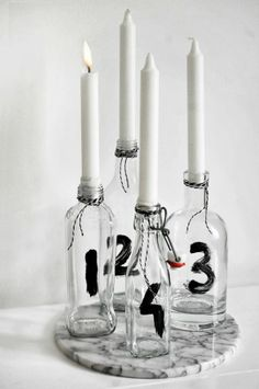DIY Advent Candle Stick Holders