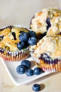 Gluten Free + Sugar Free Blueberry and Apple Muffins