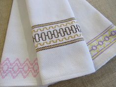 TRIO Vintage 1950s Embroidered HUCK Kitchen Toweling Swedish Weaving Dish Towel | eBay
