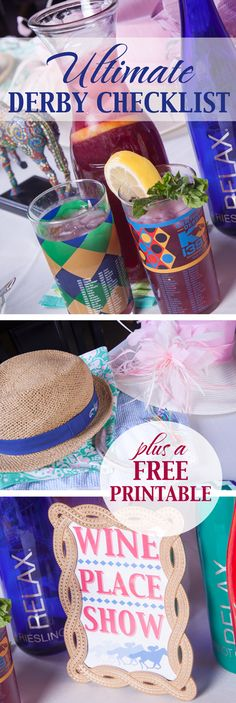 Throw a fab spring gathering! Food & drink menu tips, wine cocktail recipe, free printable & more. Derby Time, Derby Day, Kentucky Derby Fundraiser, Horse Racing Party, Derby Recipe, Race Party, Crown Party, Party Checklist, Run For The Roses