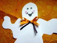 Halloween szellem ajtódísz