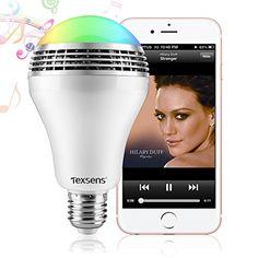 Texsens Smart LED Light Bulb Speaker  Light Flashes as Music Goes *** ** AMAZON BEST BUY -affiliate link**