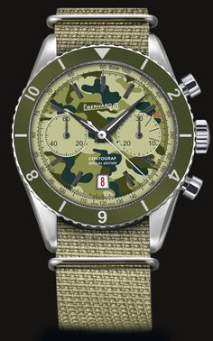 "Eberhard - Contograf ""Camouflage"" Special Edition. For those who favour a daring look and a winning outfit."