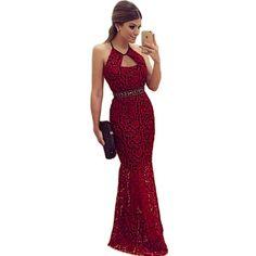 2016 Women Summer Autumn Sexy Lace Maxi Dress Elegant Backless Club Party Long Dresses vestido de renda  vestido festa noite