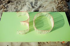 such a cute idea for a birthday party Matchstick candle number party candle party ideas party favors parties party decorations party fun par. Surprise 30th Birthday, 30th Party, Adult Birthday Party, 30th Birthday Parties, 25 Birthday, Golden Birthday, Gatsby Party, Birthday Design, Birthday Ideas