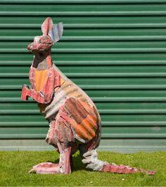 Jeff Thomson corrugated iron kangaroo