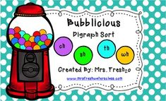 FREE Bubblicious Digraph Sort Activity