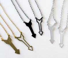 cute ideas!  - Arrow Friendship Necklaces $20