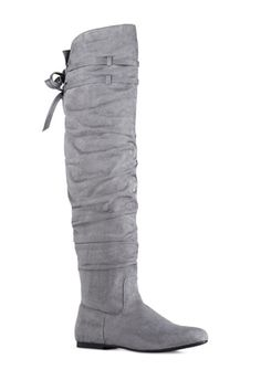 These fall I am all about grey and this flat knee high boot #ADELAYD is right up my alley. It is definitely the perfect boot to rock with a pair of skinny legs and a cute mid drift sweater. You could also throw it on with a pair of leggings and a loose fitting sweater. I am very excited to purchase this boot and get it into my closet #justfabonline