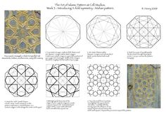 4 fold symmetry islamic geometric pattern