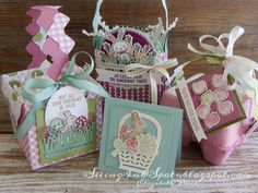 Seeing Ink Spots: Boxes, Baskets, and Bags Oh My! Easter Gift, Easter Crafts, Easter Card, Easter Ideas, Easter Projects, 3d Projects, Easter Decor, Easter Bunny, Handmade Greetings