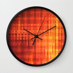Muted Fire Wall Clock