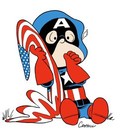 Superior Marvel According To Peanuts: Linus As Captain America By Brad Campbell