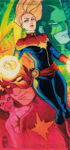 Captain Marvel 2014 Marvel Premier sketch card ~ Charles Holbert Jr.