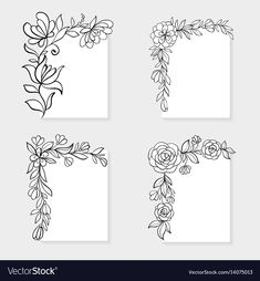 Borders For Paper Flower Pattern Drawing, Floral Drawing, Flower Patterns, Boarder Designs, Page Borders Design, Hand Drawn Border, Borders For Paper, Doodle Borders, Doodle Patterns