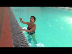 Aqua instructor tip #97 using the pool wall - YouTube