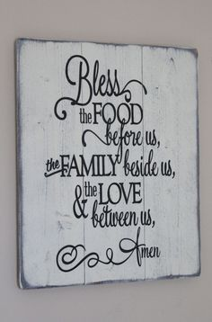 Hey, I found this really awesome Etsy listing at https://www.etsy.com/listing/224796263/bless-the-food-before-us-sign-dining