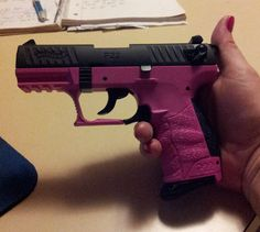 Walther P22 Pink  -- Every Girls Accessory! Find our speedloader now! http://www.amazon.com/shops/raeind
