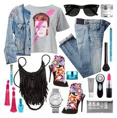 """Denim Jacket #1"" by restyikhyar ❤ liked on Polyvore featuring Miss Selfridge, Runwaydreamz, Citizens of Humanity, Giuseppe Zanotti, Ray-Ban, Calvin Klein, Boohoo, Clarisonic, MAC Cosmetics and NARS Cosmetics"