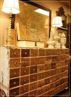 Drawers, Gaveteiro Industrial, Móveis industriais, Gavetas pequenas, Muitas gavetas, Móveis lotados de gavetas, cômoda com muita gaveta