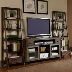 Shown in a room with optional TV console