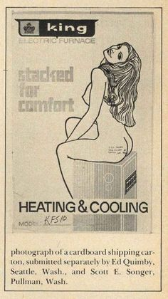 An image from a shipping carton. | 15 Unbelievably Sexist Adverts From The 1970s