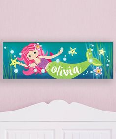 Look at this #zulilyfind! Mermaid Personalized LED Light-Up Canvas #zulilyfinds
