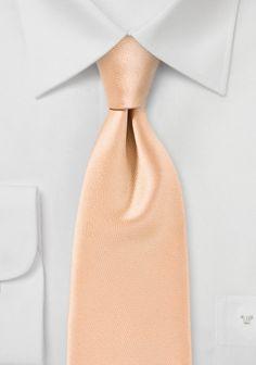 Businesskrawatte unifarben Poly-Faser beige