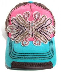 Olive & Pique Multi Colored Beaded Bling Trucker Hat | 2Die4Boutique.com