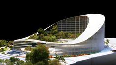 University Hospital Center Alger by Mario Cucinella Architecture Design, Healthcare Architecture, Commercial Architecture, Concept Architecture, Acoustic Architecture, Barcelona Architecture, Modern Hospital, Commercial Complex, Hospital Design