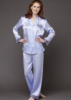 Serendipity Silk Pajama-Petite Pyjama Satin, Satin Pajamas, Satin Sleepwear, Silk Pjs, Pajama Pattern, Silk Stockings, Designer Lingerie, Fashion Fabric, Style Fashion