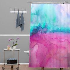 DENY Designs Jacqueline Maldonado Woven Polyester Tidal Color Shower Curtain & Reviews | Wayfair