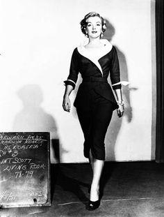 "Marilyn in a wardrobe test for ""Love Nest"", 1951."