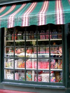 Great way to draw customers in displaying the candy in the window