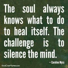 listen to your soul for good health advice