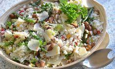 Blomkålscouscous med grønne bønner og parmesan - LCHF